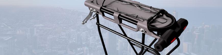 Padlock with luggage rack for bicycles - Codex-U